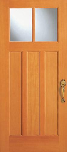 Modern Exterior Door With Multi Point Locks 4 Door Lites: 6862 Craftsman Three Panel